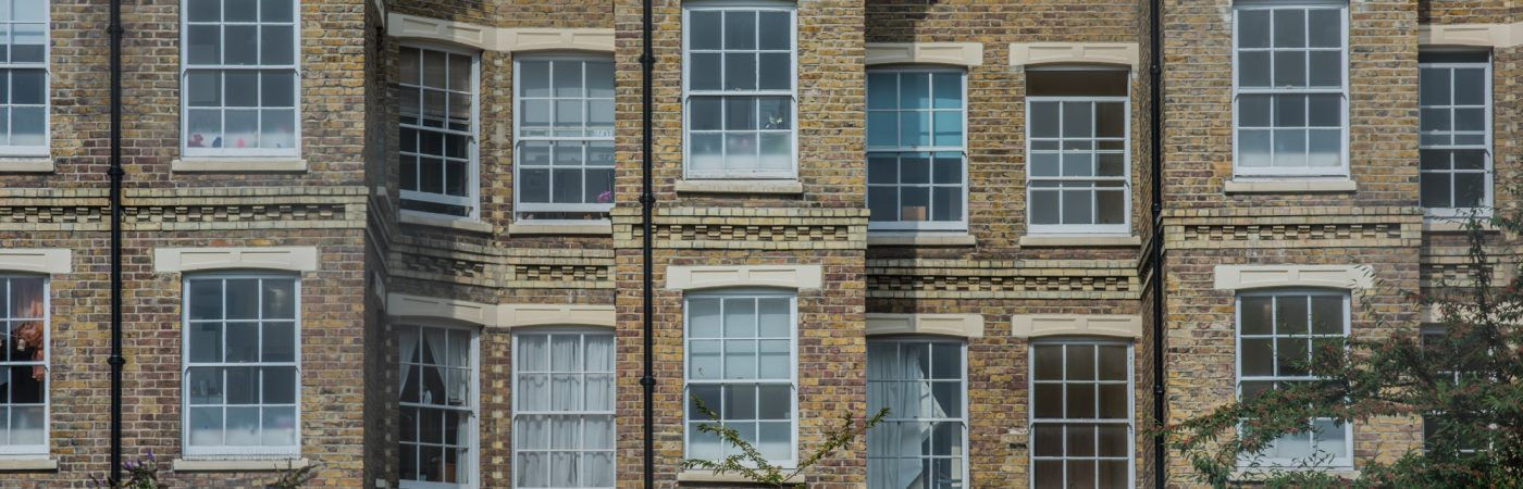 Sash Windows in a typical East London building