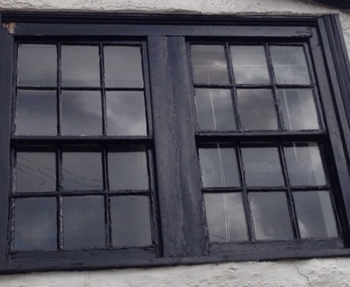 Old sash window in need of urgent restoration!