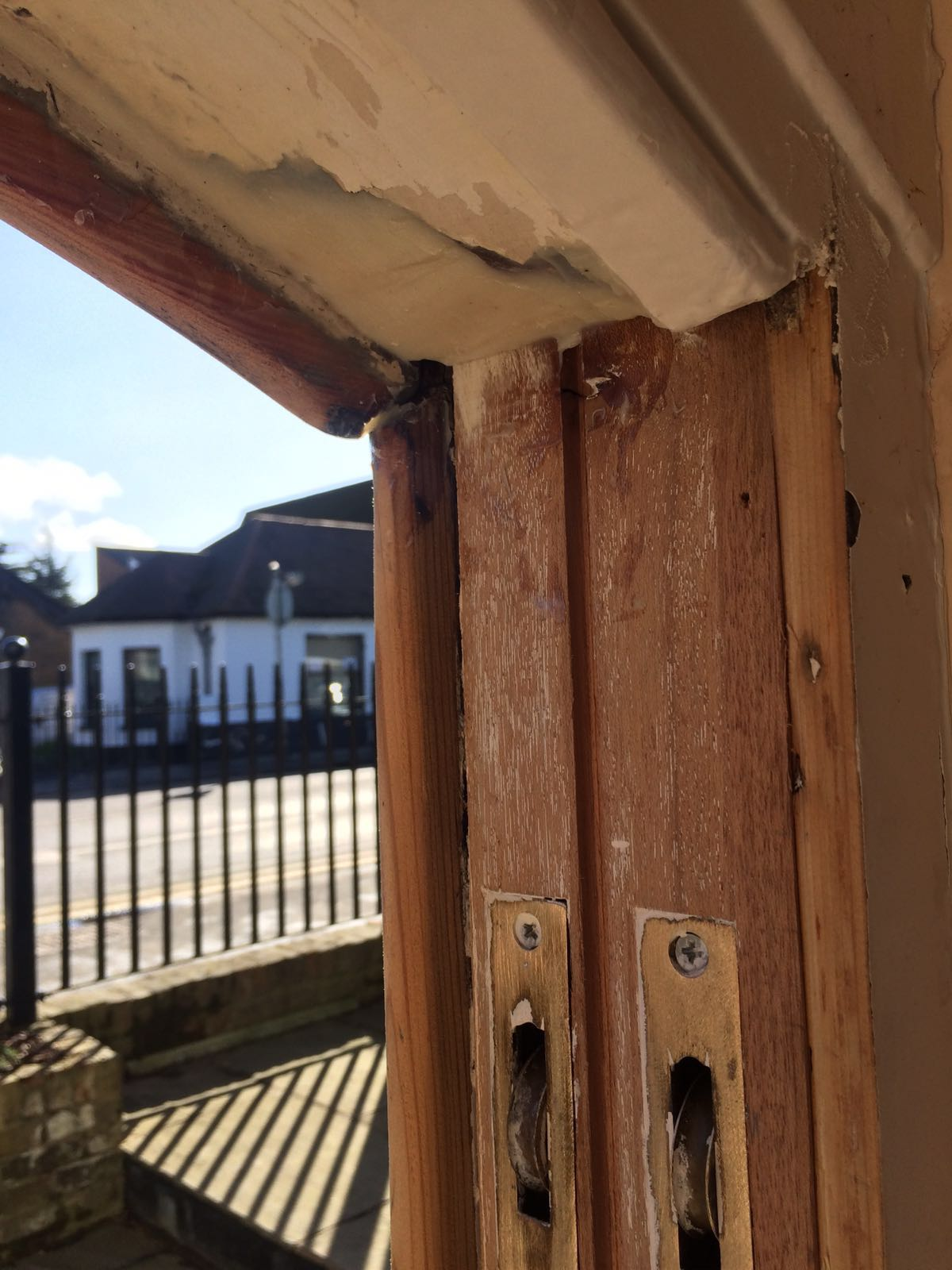 Repairing the timber frames