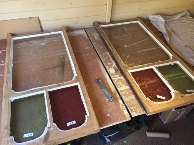 Hackney Window frames being repaired