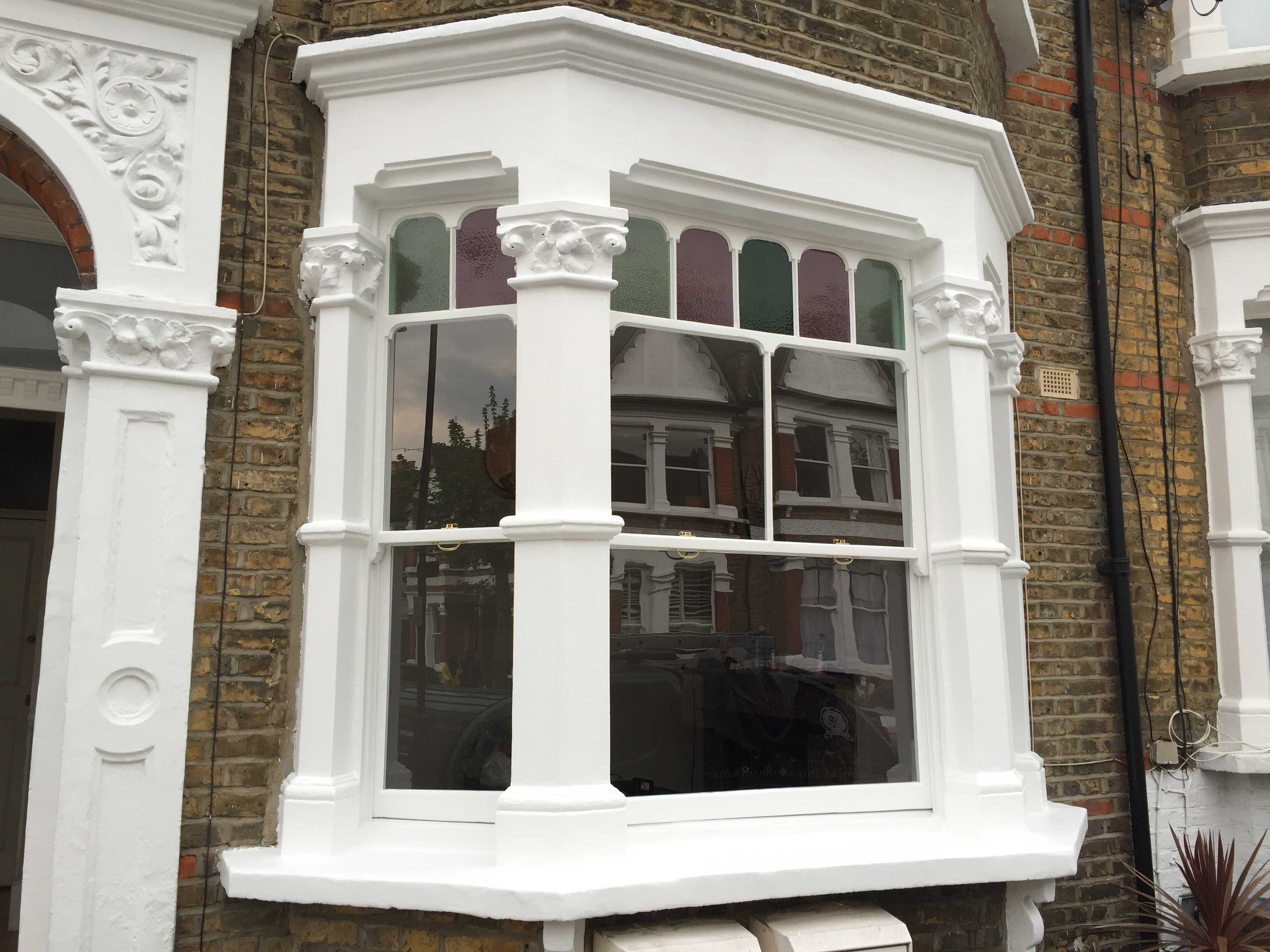 Complete sash bay window restoration in Hackney, East London