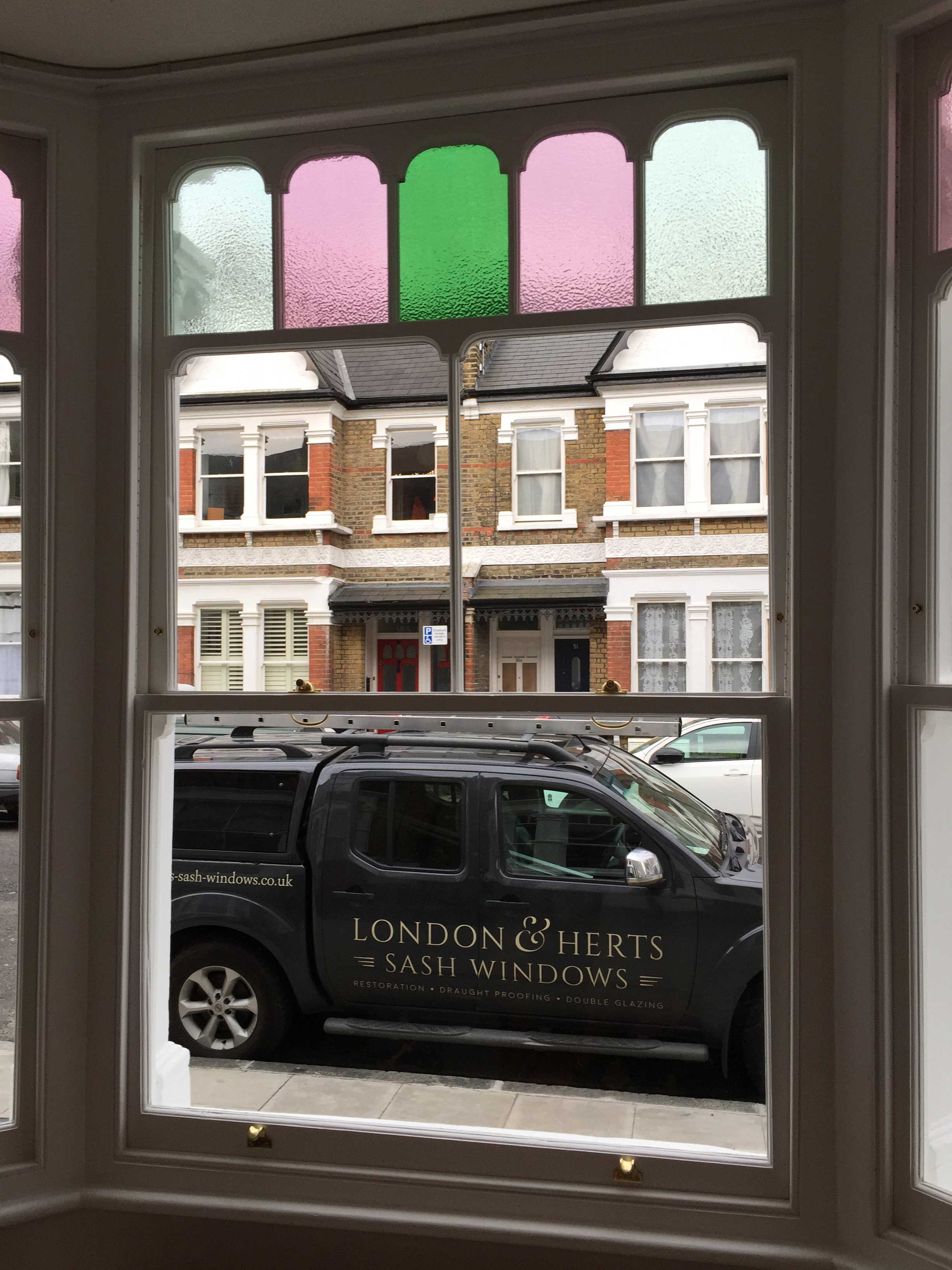 London & Herts Sash Windows completed this stunning bay window project in Hackney