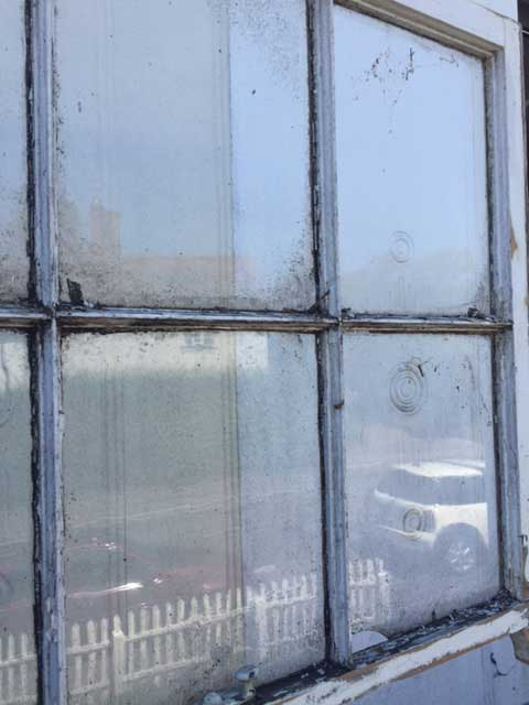 Rotting timber window frames