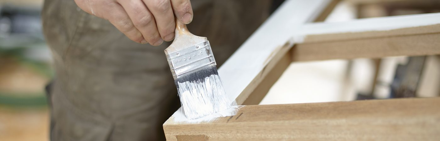 Timber Window being restored
