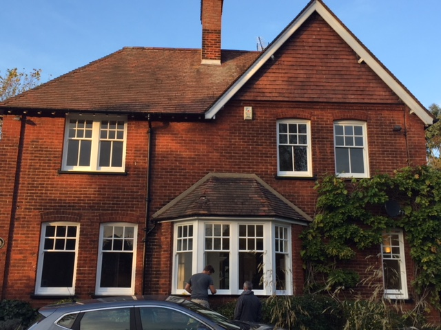 Sash window restoration and draught proofing carried out in Bishop's Stortford