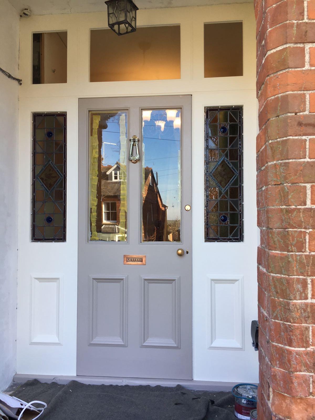 Decorating the renovated wooden door