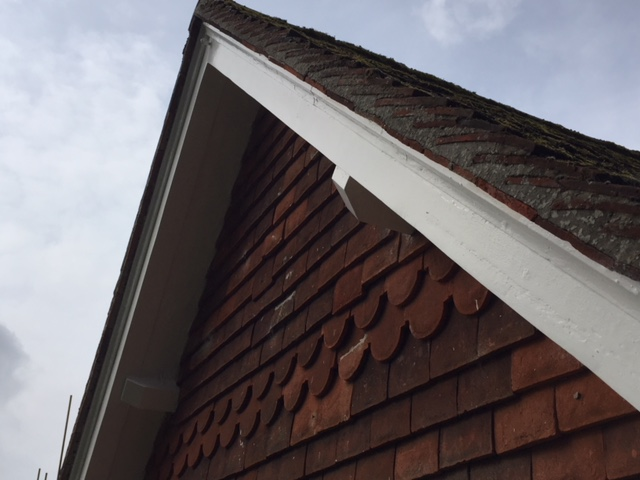Restored timber facias and soffits on a house in Essex