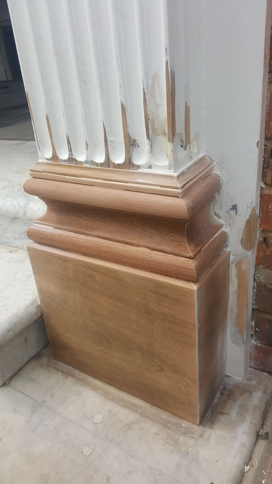 Repaired entrance column detail