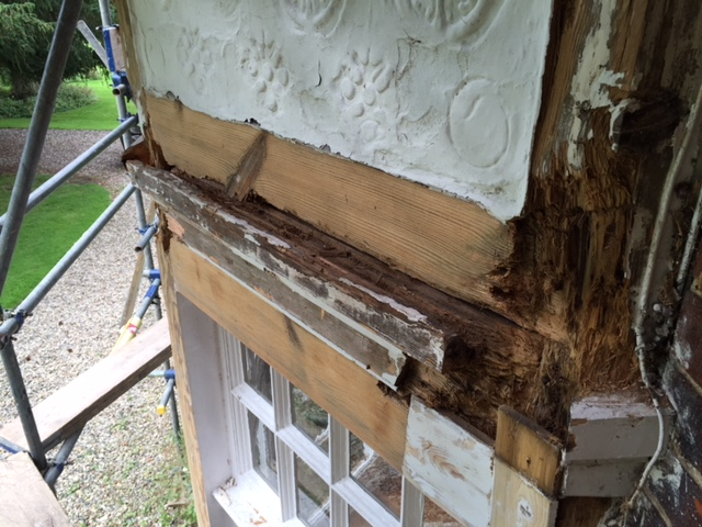 Before a window restoration project in Essex