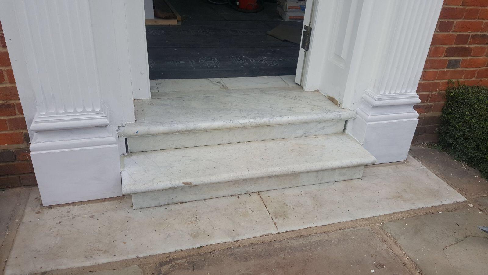Entrance Door Column Repair in Hunsdon