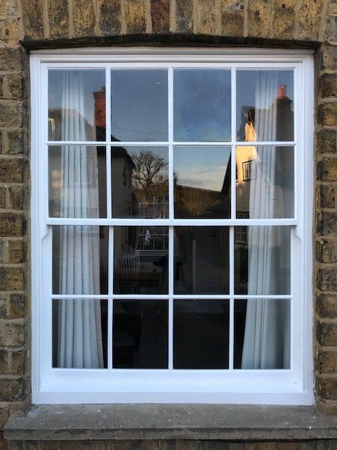 restored and draught proofed window much hadham, hertfordshire