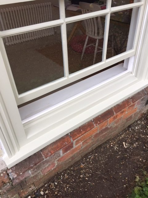Smooth movement on this restored sash window on a project carried out by London & Herts Sash Windows