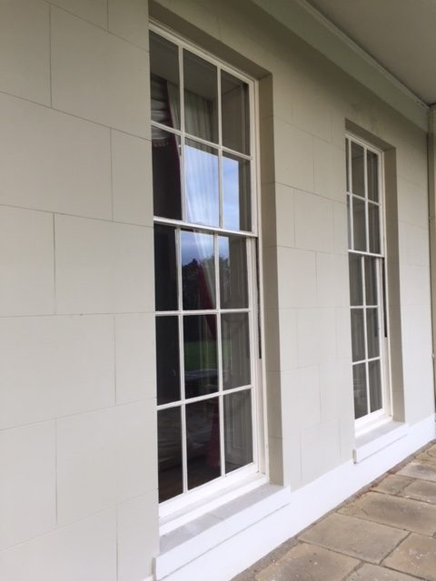 Woolmers Park sash windows draught proofing and restoration