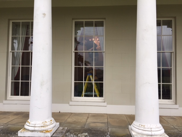 Tall sash windows at Woolmers Park - restored and draught proofed by London & Herts Sash Windows